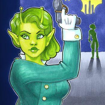 Green Space Alien